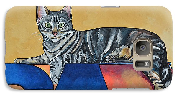 Galaxy Case featuring the painting Oliver by Patti Schermerhorn