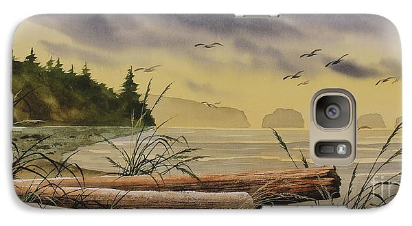 Galaxy Case featuring the painting Olympic Seashore Sunset by James Williamson