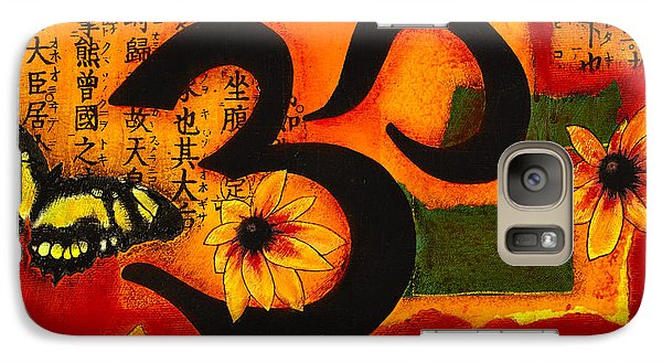 Galaxy Case featuring the mixed media Om by Gloria Rothrock