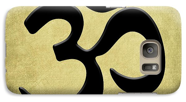 Galaxy Case featuring the painting Om Gold by Kandy Hurley