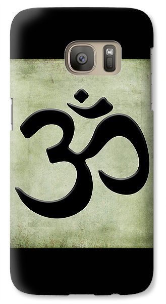 Galaxy Case featuring the painting Om Green by Kandy Hurley