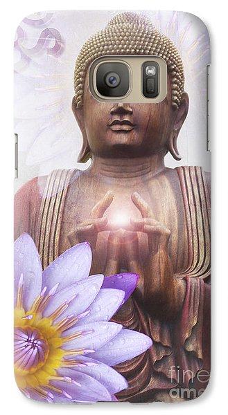 Om Mani Padme Hum - Buddha Lotus Galaxy S7 Case by Sharon Mau