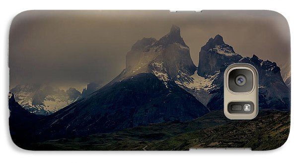 Galaxy Case featuring the photograph Ominous Peaks by Andrew Matwijec