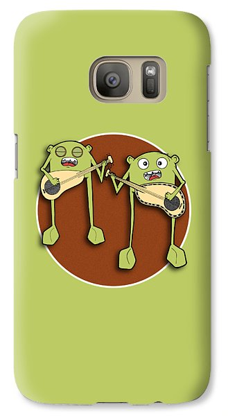 Galaxy Case featuring the drawing Omti And Itmo by Uncle J's Monsters