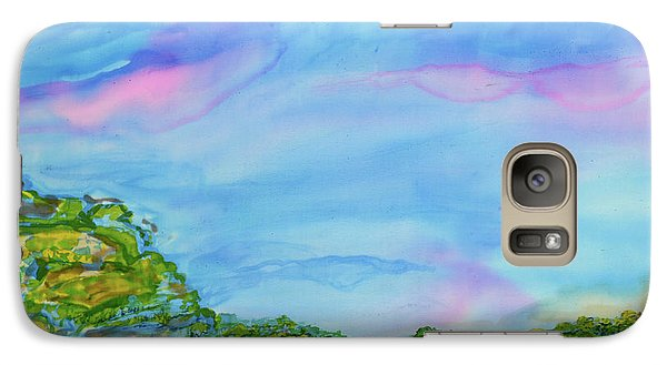 Galaxy Case featuring the painting On A Clear Day by Susan D Moody