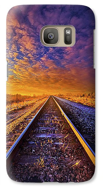 Galaxy Case featuring the photograph On A Train Bound For Nowhere by Phil Koch