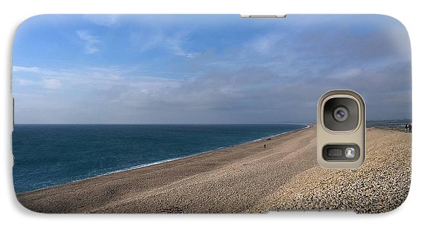 Galaxy Case featuring the photograph On Chesil Beach by Anne Kotan