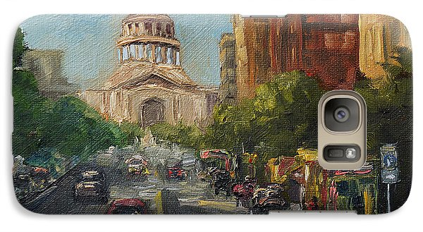 Galaxy Case featuring the painting On Congress by Lisa  Spencer