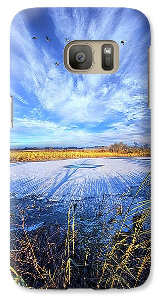 Galaxy Case featuring the photograph On Frozen Pond by Phil Koch