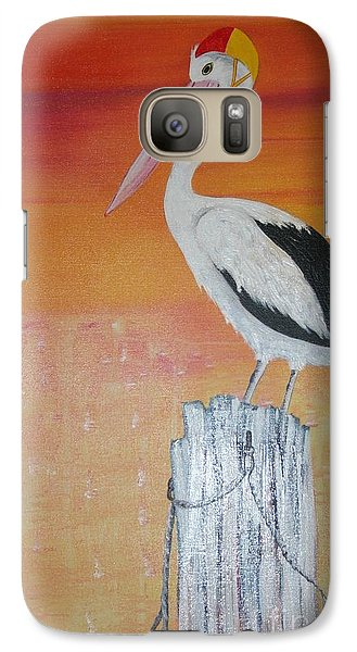 Galaxy Case featuring the painting On Patrol by Lyn Olsen