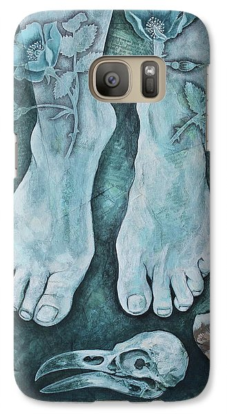 Galaxy Case featuring the mixed media On Sacred Ground by Sheri Howe