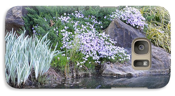 Galaxy Case featuring the photograph On The Banks Of The Pool by Linda Geiger