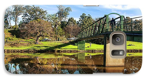 Galaxy Case featuring the photograph On The Banks Of The River By Kaye Menner by Kaye Menner