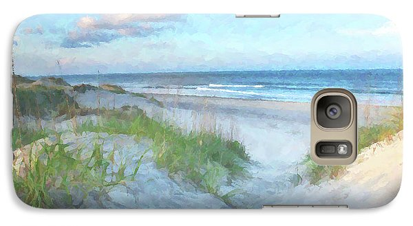 On The Beach Watercolor Galaxy S7 Case