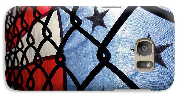 Galaxy Case featuring the photograph On The Fence by Robert Geary