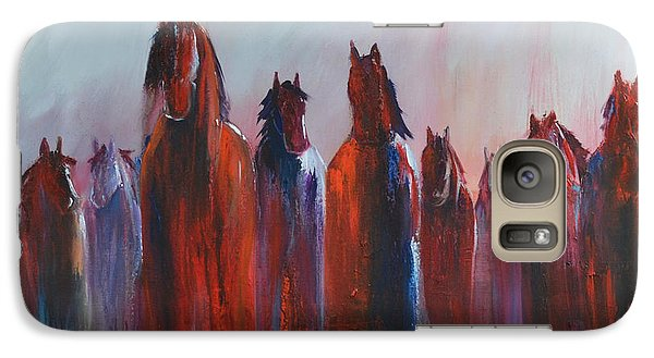 Galaxy Case featuring the painting On The Horizon by Cher Devereaux