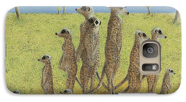 Meerkat Galaxy S7 Case - On The Lookout by Pat Scott