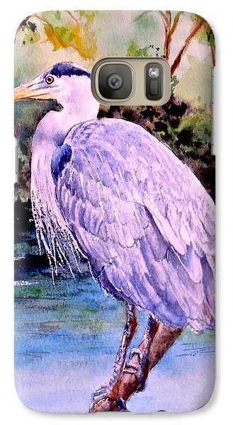 Galaxy Case featuring the painting On The Lookout by Sher Nasser