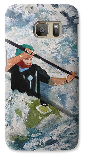 Galaxy Case featuring the painting On The New by Sandy McIntire