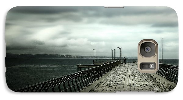 Galaxy Case featuring the photograph On The Pier by Perry Webster