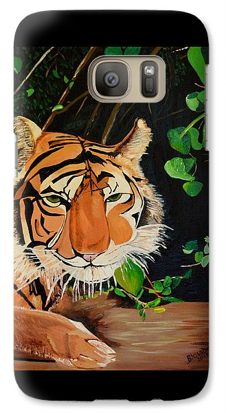 Galaxy Case featuring the painting On The Prowl by Donna Blossom