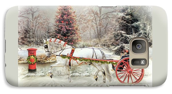 Galaxy Case featuring the digital art  On The Road To Christmas by Trudi Simmonds