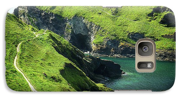 Galaxy Case featuring the photograph On The Road To Tintagel by Connie Handscomb