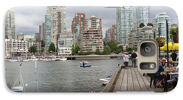 Galaxy Case featuring the painting On The Water At False Creek Vancouver by Rod Jellison