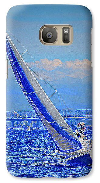 Galaxy Case featuring the photograph On The Water by Barbara Dudley