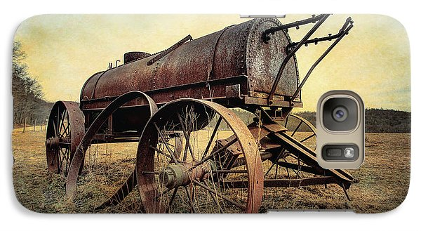 Galaxy Case featuring the photograph On The Water Wagon - Agricultural Relic by Gary Heller