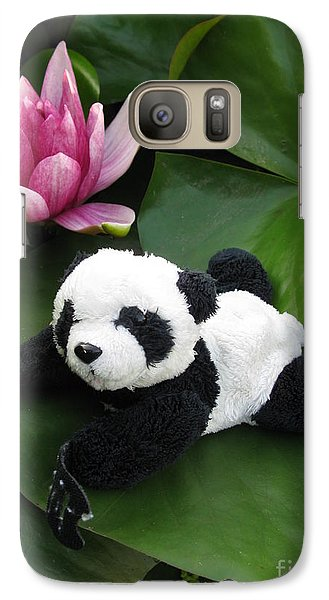 Galaxy Case featuring the photograph On The Waterlily by Ausra Huntington nee Paulauskaite