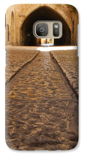 Galaxy Case featuring the photograph On The Way To The Western Wall - The Kotel - Old City, Jerusalem, Israel by Yoel Koskas