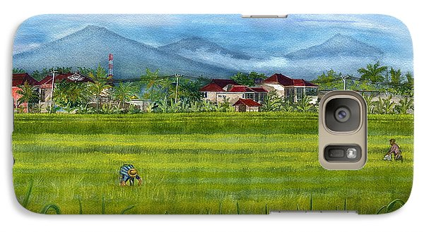 Galaxy Case featuring the painting On The Way To Ubud 3 Bali Indonesia by Melly Terpening