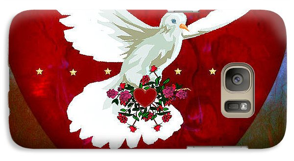 Galaxy Case featuring the digital art On The Wings Of Love by Mary Anne Ritchie