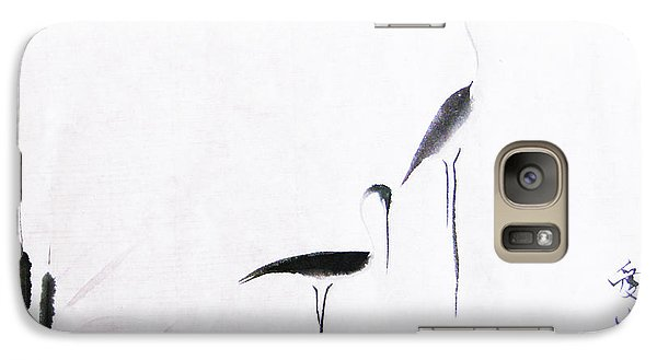 Crane Galaxy S7 Case - On Typha Pond by Oiyee At Oystudio