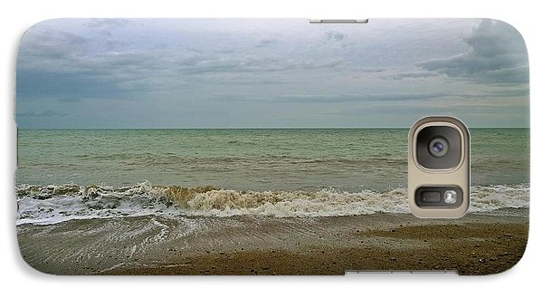 Galaxy Case featuring the photograph On Weymouth Beach by Anne Kotan