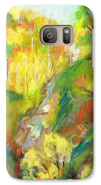 Galaxy Case featuring the painting Once A Waterfalls by Frances Marino