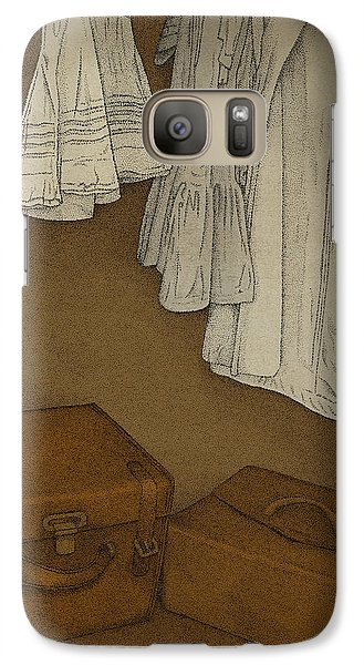 Galaxy Case featuring the drawing Once by Meg Shearer