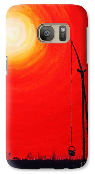 Galaxy Case featuring the painting Once Upon A Time...  by AmaS Art