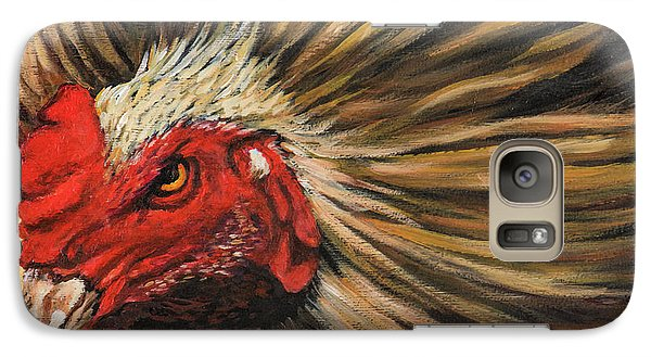 Galaxy Case featuring the painting One Angry Ruster by Igor Postash