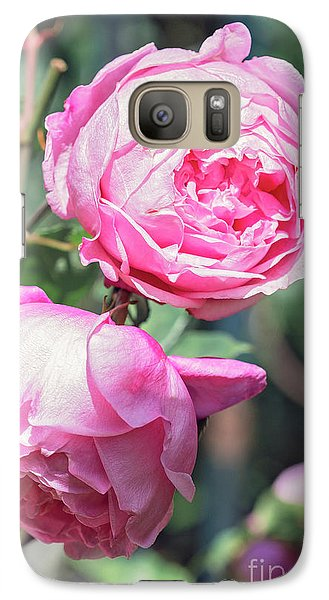 Galaxy Case featuring the photograph One Bold, One Bashful by Linda Lees