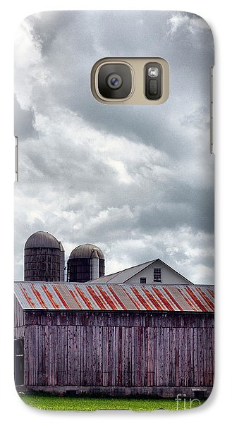 Galaxy Case featuring the photograph One Fine Cloudy Day  by Polly Peacock