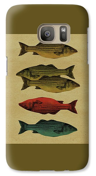 Galaxy Case featuring the drawing One Fish, Two Fish . . . by Meg Shearer