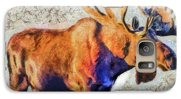 Galaxy Case featuring the painting One Handsome Moose by Elaine Ossipov