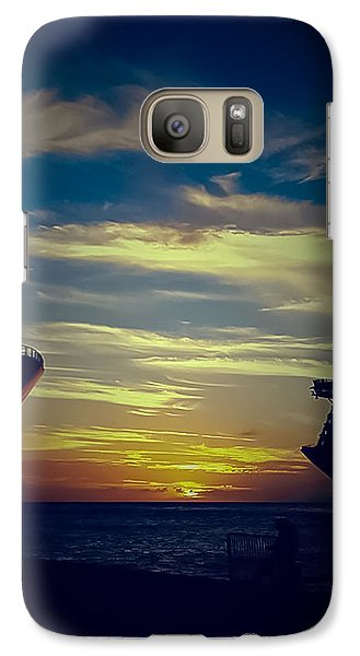 Galaxy Case featuring the photograph One Last Glimpse by DigiArt Diaries by Vicky B Fuller