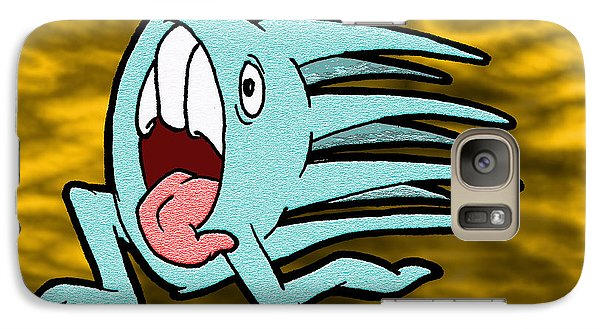 Galaxy Case featuring the drawing One Of Those Days by Uncle J's Monsters