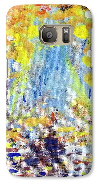 Galaxy Case featuring the painting One On One by Raymond Doward