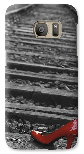 Galaxy Case featuring the photograph One Red Shoe by Patrice Zinck