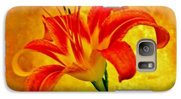 Galaxy Case featuring the photograph One Tigerlily by Marsha Heiken