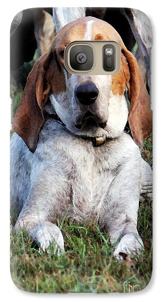 Galaxy Case featuring the photograph One Tired Hound by Polly Peacock